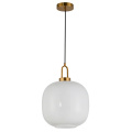 Modern simplicity round glass gold metal pendant lamp