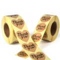 Custom Heart Shape kraft thank you sticker Paper