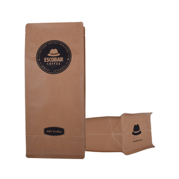 Wholesale customized paper flat bottom coffee bag with valve