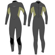 Seaskin Women's Zipper Pull Fullsuit Diving Wetsuits