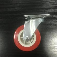 3 Inch Plate Swivel PVC Material Small Caster