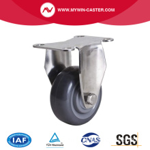Stainless 4 Inch 100Kg Rigid PU Caster