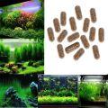 40 Pcs Aquatic Plant Water Grass Root Fertilizer Condensed Aquarium Safe Fish Tank Cylinder Water Grass Nutrition Fertilizer