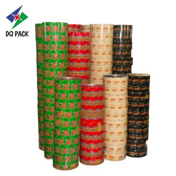 Roll film laminated material for snack food