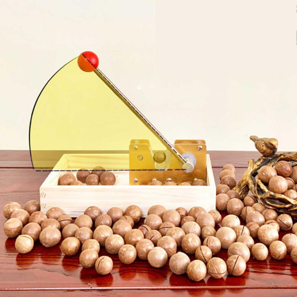 New Manual Nutcracker Nut Tongs Pecan Nut Adjustable Heavy Duty Macadamia Cracker Opener Machine Tool With Metal Handle