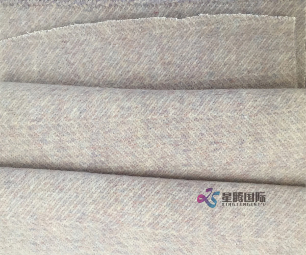 Viscose Woolen Herringbone Design Fabric