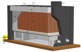 Solid electric heat storage boiler