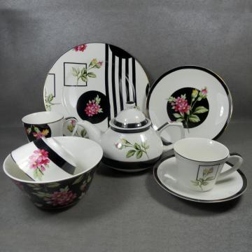 Dinnerware Sets Flower Porcelain Round