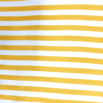 Yellow Stripes Woven Rayon Printing Clothing Fabric