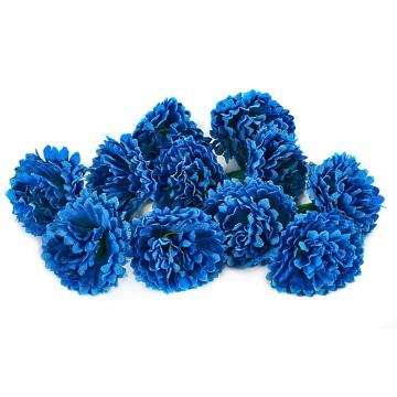 AsyPets 80pcs Cute Artificial Carnation Flower Silk Flowers Heads Wedding Birthday Party Best Price Gift Blue
