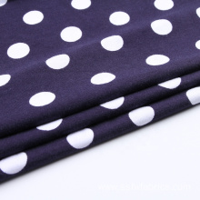 Dot Pattern Knitted Prints Spandex Fabric Cottons