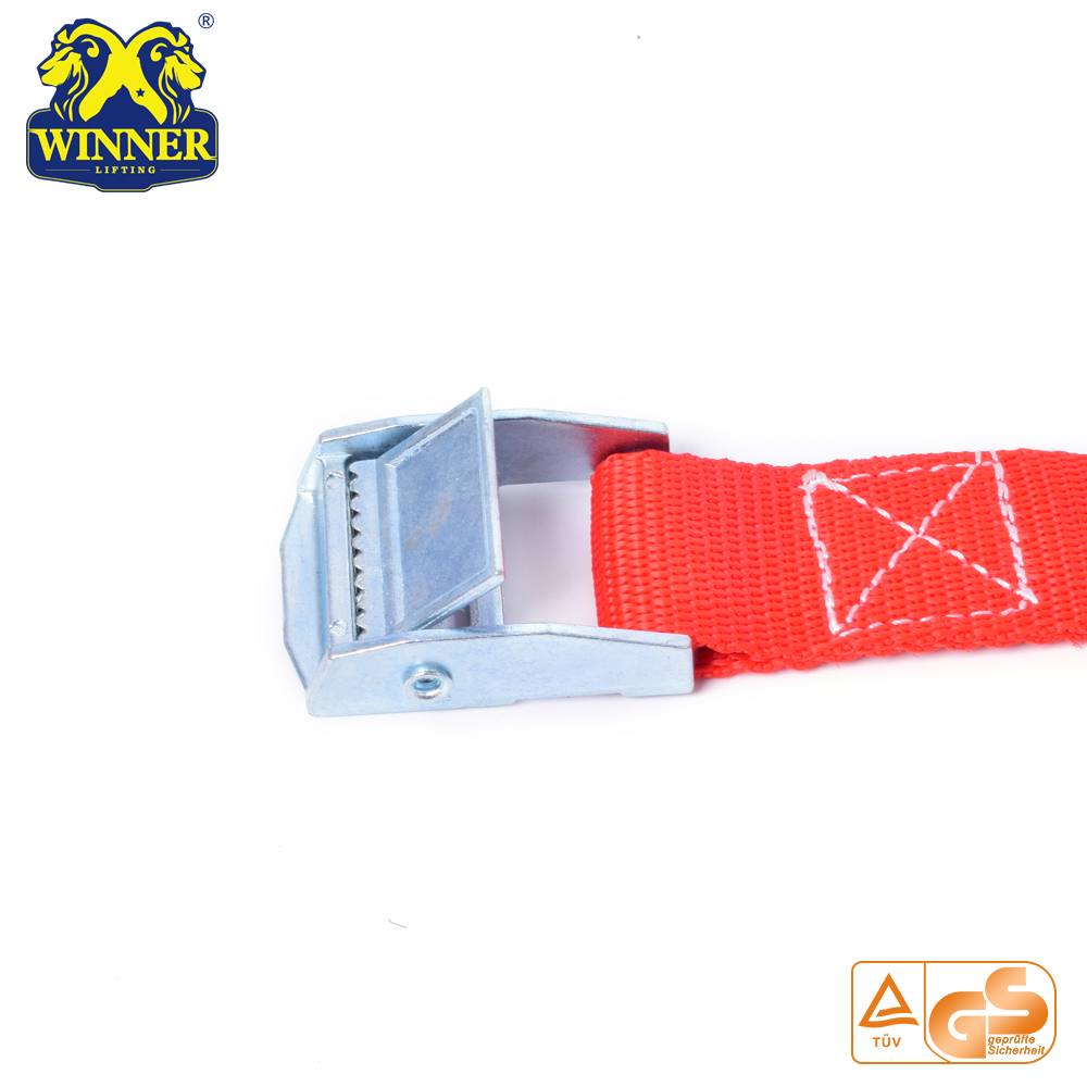 Polyester Ratchet Strap Cargo Lashing Belt With Heavy Duty Buckle