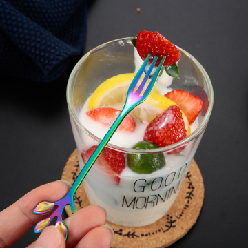 Wholesale  coffee spoon fruit fork set