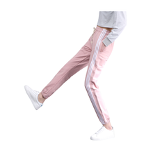 Womens Stylish Side Stripe Cotton Sports Pants