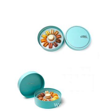Luxury Packaging Colorful Round Cardboard Macarons Paper Box