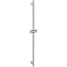 Round Shower Rail With Square Plinth