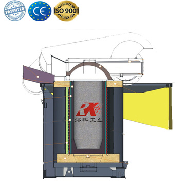 Induction metal Scrap Copper Melting Furnace for sale