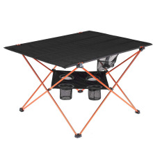 Large Portable Camping Table with 4 Cup Holders