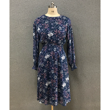 women's chiffon print dress