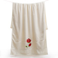 Cotton Bath Towels with Flowers