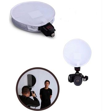 2in1 30cm 18%Gray card for White balance Card Board Round Flash Diffuser Softbox