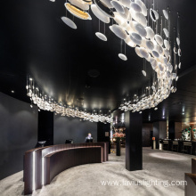 New design office big luxury modern project chandelier