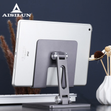 Aluminum Foldable Desk Tablet Phone Stand Holder Mount for IPAD Air Pro 12.9 10.5 4 to 14 Inch Smartphone Tablet PC Stand