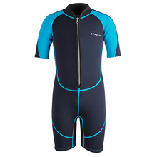 Seaskin Boys Chest Zip Jako Neoprene Shorty Wetsuits