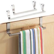 Stainless Steel Towel Hanging Rack Cabinet Drawer Towel Holder Door Bathroom Kitchen Storage Holder Cabinet Organizer Hanger