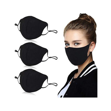 Breathable Pure Cotton Protective Black Respirator Mask