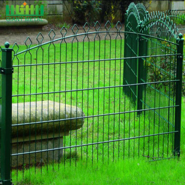 Protection PVC Coated Metal Prestige Double Wire Fence