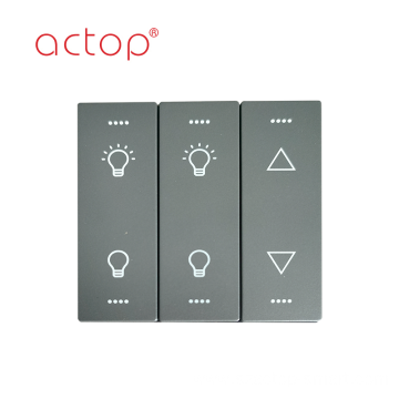 light control glass touch wall switch panel socket