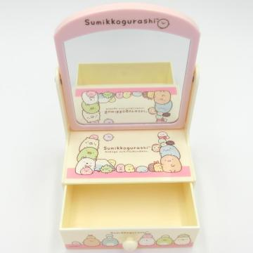 Plastic mini dressing table with drawers
