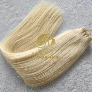 Blonde hybrid weft hair extensions-sew in hair extensions