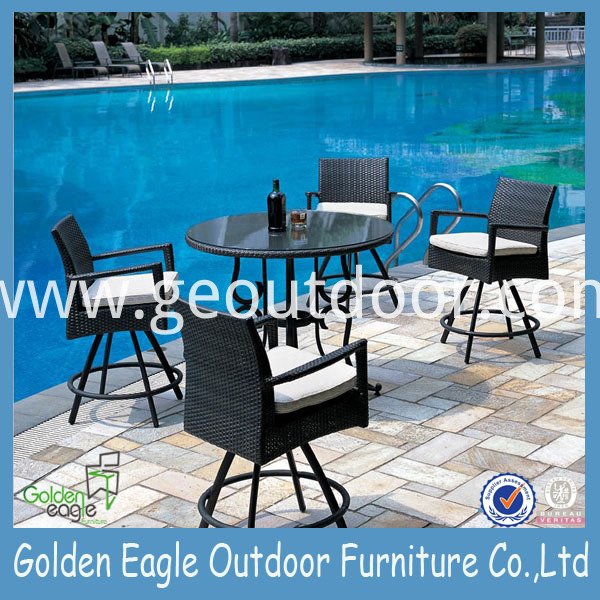 patio wicker round dining set