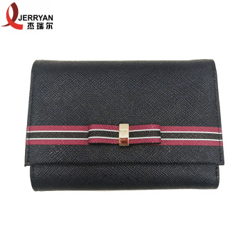 Designer Black Money Clip Card Wallet Clutch Bag