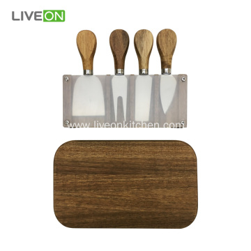 Acacia Wooden Cheese Board Set