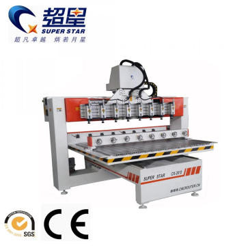 Rotary CNC Router Machine with Multi Heads