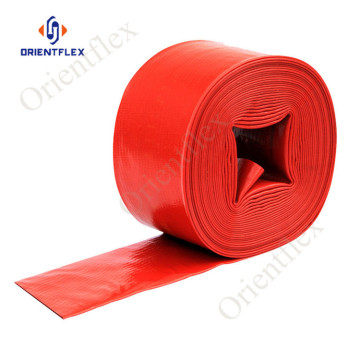 4 discharge pvc water flat hose pipe