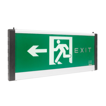 Safety exit indicator lights in public places