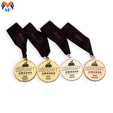 Custom sports made metal medals set