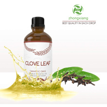 Pure natural clove leaf essential oil for teeth