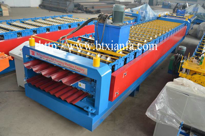 Double Layer Corrugated Sheet Machine