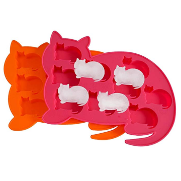 Food Grade Cat Shaped Silicone Ice Cube Trays