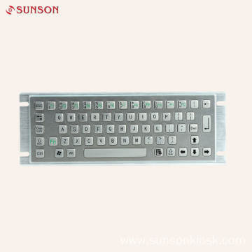 Metal Keyboard with Touch Pad