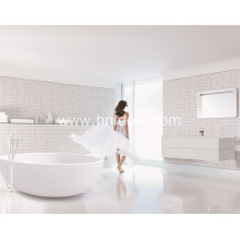 Solid surface Round Indoor White Acrylic Corner Bathtub