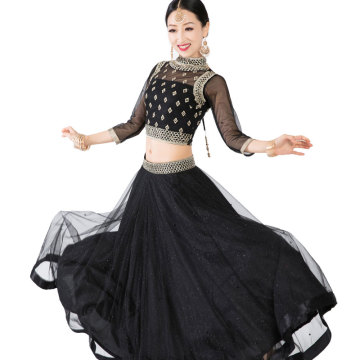 New India Clothing Sarees For Woman Lehenga Choli Belly Dancing Dress Nepal Pakistan Hand-made Embroideried Lady Three Pieces