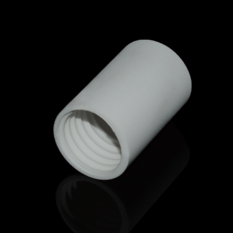 Threaded alumina ceramic tube