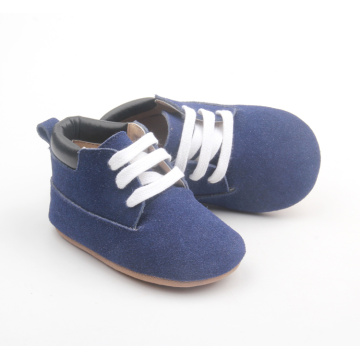 2018 Blue Soft Leather Wholesale Baby Casual Shoes