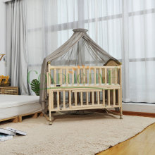 Baby using radiation protection bed canopy mosquito net